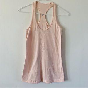 Lululemon razer back tank blush pink size 2